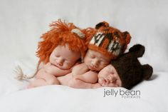 Lions, tigers, and bears! Oh, my!  I cannot decide which one is sweeter!  Ooooh triplet boys would be so cute in this!