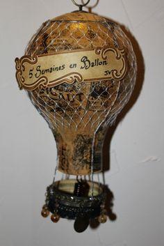 Steampunk Airship, Steampunk House, Steampunk Design, Steampunk Wedding, Dieselpunk, Air Ballon, Hot Air Balloon, Altered Boxes, Altered Art