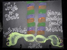 Halloween Witch Footprint for Kids! Trick-or-Treat! Smell My Feet! Give Me Something Good to Eat!