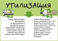Об утилизации батареек и ламп