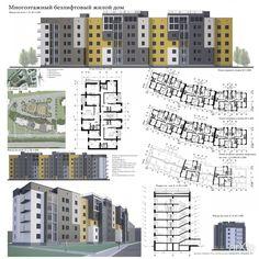 Многоэтажный безлифтовый жилой дом: архитектура, жилье, модернизм, 5 эт | 15м…