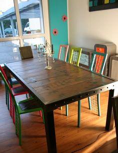table-metal-bois