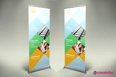 Training Roll Up Banner - v027 by Creatricks on @creativemarket