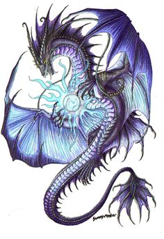 Celtic Dragon Tattoo Fairies Ideas For 2019 Dragon Tatoo, Celtic Dragon Tattoos, Dragon Tattoo Designs, Mythical Creatures Art, Magical Creatures, Fantasy Creatures, Dragon Images, Dragon Pictures, Skull Pictures