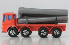 matchbox pipe truck - Google Search Matchbox Cars, Hot Wheels, Cool Cars, Nostalgia, Trucks, Google Search, Toys, Activity Toys, Truck