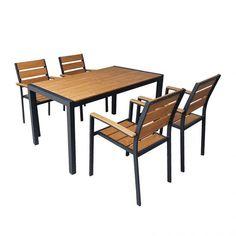 Pigaso set τραπεζαρία πολυπροπυλενίου 140x80 με 4 πολυθρόνες Outdoor Furniture, Outdoor Decor, Table, Home Decor, Decoration Home, Room Decor, Tables, Home Interior Design, Desk