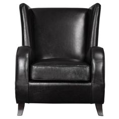 Lane Black Faux Leather Accent Chair by Uttermost