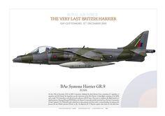 ROYAL AIR FORCETHE VERY LAST BRITISH HARRIERRAF Cottesmore. 15th December 2010 HARRIER GR.9 ZG506