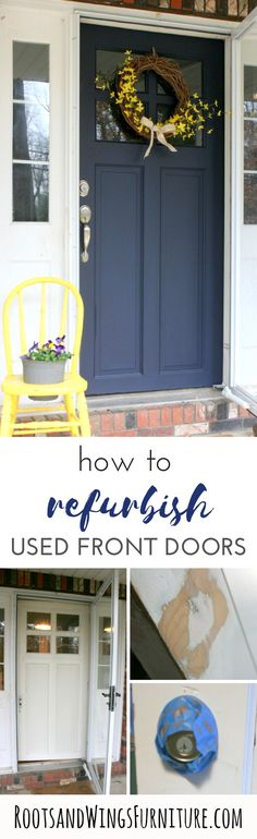 Front Door Makeover With General Finishes Milk Paint