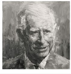 Portrait of HRH the Prince of Wales by a Chinese artist Yan Pei-Ming
