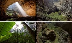 Sheer cliffs, dense jungle and its own climate: Mesmerising drone footage captures haunting beauty of the world's largest cave