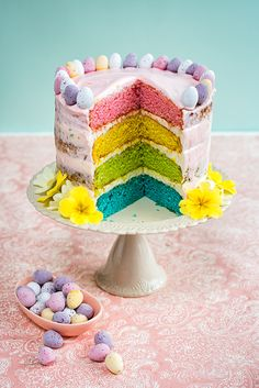 This pretty vanilla cake is so easy to prepare and perfect for Easter. The layers are tinted in pastel shades using gel food colouring and only revealed once the cake is sliced. Decorate with mini chocolate eggs and fresh flowers or whatever else takes your fancy. You can use the cream cheese frosting in this …