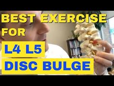 This video shows the best exercises for lumbar disc tear or disc herniation. Best Exercise For Disc Bulge Best Exercise For Disc Herniation by Ch. Buldging Disc, Herniated Disc Lower Back, Low Back Exercises, Lumbar Disc, Disk Herniation, Sciatica Exercises, Exercises For Herniated Disc, Inversion Table, Psoas Muscle