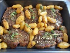 Greek Recipes, Pork Recipes, Cooking Recipes, Good Food, Yummy Food, Greek Cooking, Meat Lovers, Group Meals, Pot Roast