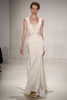 Kenneth Pool modern wedding dress @myweddingdotcom