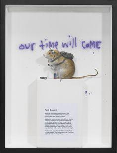Banksy's Pest Control – Banksus Militus Vandalus, 2004. Happenings, Banksy, Pest Control, Natural History, Impressionist, Rat, Conversation, Modern Art, Street Art