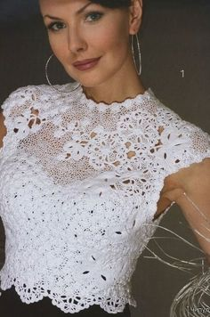 lace fashion for summer: crochet magazine, Gilet Crochet, Freeform Crochet, Crochet Blouse, Crochet Lace, Crochet Tops, Irish Crochet Patterns, Mode Crochet, Crochet Magazine, Crochet Woman