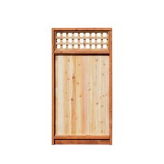 x Western Red Cedar Lattice-Top Wood Fence Gate Item 267447 Cedar Gate, Cedar Fence, Wood Fence Gates, Fencing, Lattice Top, Building A Fence, Western Red Cedar, Fence Panels, Lowes Home Improvements
