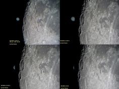 "Lunar occultation of Jupiter, Christmas Day 2012. (Image: Avaní Soares) A sequence of images showing the Moon hiding Jupiter from view. ©Mona Evans, ""10 Amazing Facts about the Solar System"" http://www.bellaonline.com/articles/art33026.asp"