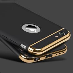 Luxury Ultra Thin Shockproof Cover Case for iPhone 6 case 6s 7 Plus 5S 5 Plating PC Armor Protection iPhone 7 Case Capa Coque
