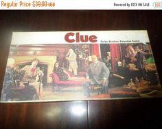 Save 50% Today Vintage 1972 Clue Classic by AlexandersAtticVa