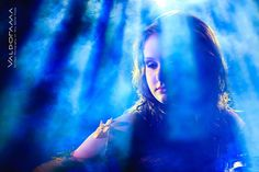 http://valdorama.com Artistic wet Afterglow photo session, Post wedding photo session, dark, backlit, blue light, water, bride, smoke, rays, south windsor, ct