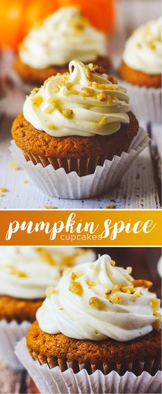 Pumpkin spice cupcakes - the PERFECT flavorful pum…