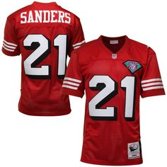 Deion Sanders San Francisco 49ers Mitchell & Ness Authentic Throwback Jersey – Scarlet