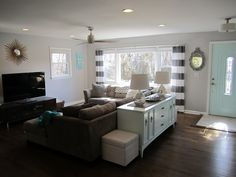Retro Ranch Reno  This is very ideal and a realistic look for the new living room.. its perfect!                                                                                                                                                     More