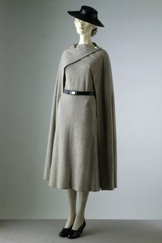 Grey ensemble with Black hat. omg I would WEAR THIS EVERY DAY. Madeleine Vionnet 1933