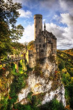 Castle Lichtenstein, built near a cliff in Baden-Wurttemberg Germany.  Photo by Ryan Wyckoff #AmazingCastles  #LichtensteinCastle
