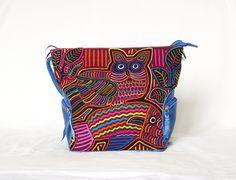 Thementaschen - Schultertasche aus Leder mit Mola-Dekor - ein Designerstück von MolaBags bei DaWanda