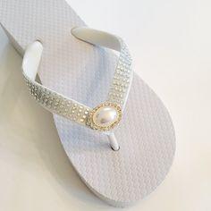 07bf35968203d Wedding Flip Flops Wedges for BRIDE