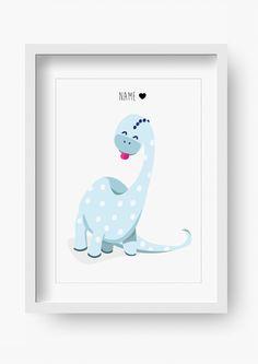 """Bilder - Kinder Poster """"Herr Dino"""" (Kinderzimmer Bild) - ein Designerstück von fabeltal bei DaWanda"""