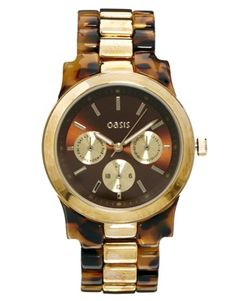 Image 1 ofOasis Tortoise Shell Link Strap Watch