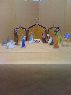 Beautiful stained glass nativity.