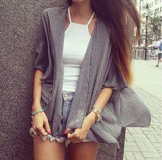 Tanktop, normal jeans.. perfect!♡
