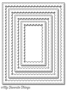 MFT STAMPS: FRAMES Stitched Rectangle Scallop Die-namics