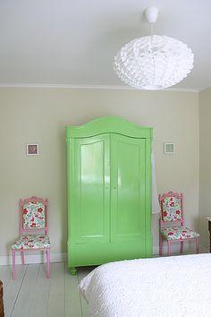 love the green wardrobe :. by yvestown, via Flickr
