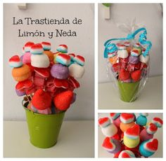 DIY tutorial maceta de gominolas. Diy sweet candy