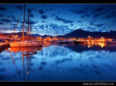 Spain - Mallorca - Magical Dusk at Marina of Port de Pollença (Puerto Pollensa)