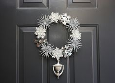 Pottery Barn Inspired Winter Wreath | Copycat Crafts