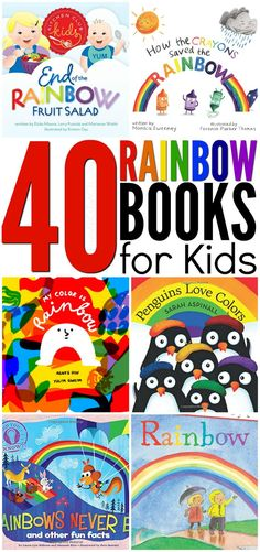 40 Rainbow Books for Kids is part of Science Preschool Books - Need a few awesome rainbow books to add to your spring theme unit This list includes 40 bright and colorful stories that are perfect for kids of all ages! Kindergarten Books, Preschool Books, Toddler Preschool, Rainbow Activities, Book Activities, Preschool Activities, Rainbow Crafts Preschool, Best Children Books, Toddler Books