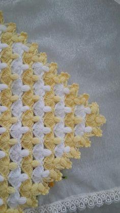 Crochet Bobble Blanket, Crochet Shell Stitch, Crochet Stitches Patterns, Baby Knitting Patterns, Stitch Patterns, Easy Crochet Slippers, Woolen Craft, Crochet Home Decor, Crochet Diagram