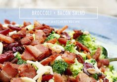 Amanda's Musings: Weight Watchers Recipe // Broccoli + Bacon Salad [side dish, hot or cold, adapted for Australian ingredients, weightloss, weight loss, healthy eating, pale]