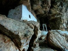 Chapel in a cave, Agios Stefanos in Syros island Syros Greece, Athens Greece, Greek Islands, More Photos, Mount Rushmore, Cave, Mountains, Greek Isles, Caves