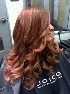 Blush golden blond ombre with blended highlights combo