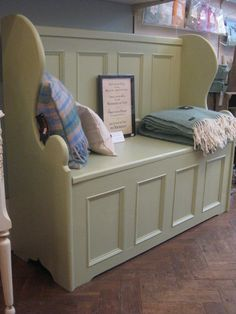 Painted pine monks bench