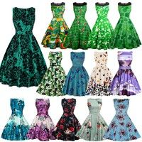 Product Information Gender:Women Pattern Type: Print Item Type: Dress Silhouette: A-Line Dresses L