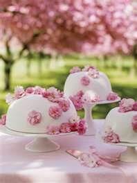 cherry blossom table settings refinery29.com #wedding